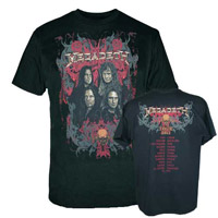 Megadeth Four Faces/Itin 2011 T