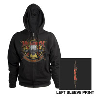 Megadeth 2011 Endgame Tour Zip-Up Hoodie