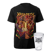 Aztec Vic Megadeth Tee & Pint Glass Bundle Special - $19.95