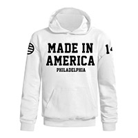 Made in America white flag PA pullover hoodie