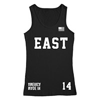 Made in America East Black Mesh Tank