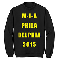 Made In America black M-I-A crewneck sweater