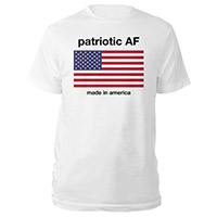 Patriotic AF Made in America Flag Tee