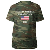 Made in America Great Again 2016 flag Camo Tee