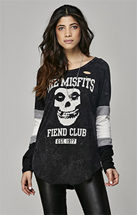 Misfits Destroyed Long Sleeve Raglan