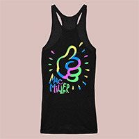 Psychedelic Mac Miller Women's Racer Tank Top