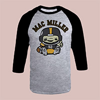 Mac Miller Lil Mac Football Raglan Shirt