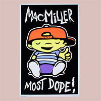 Mac Miller Black Light Poster