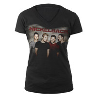 Nickelback Smiling Photo Junior V-Neck
