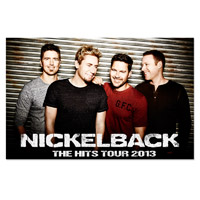 Nickelback The Hits Tour 2013 Poster