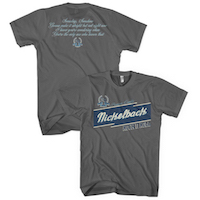 Nickelback Logo/Lyrics Charcoal T-shirt