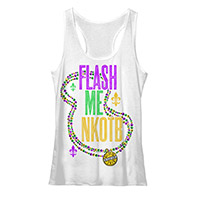 Flash Me NKOTB Cruise Inspired Ladies Racerback Ta