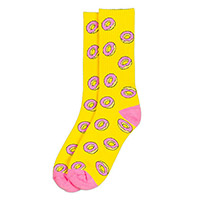 ALLOVER DONUT SOCKS YELLOW