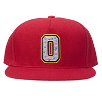 COLLEGIATE 2 DONUT SNAPBACK RED