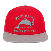 DOLPHIN NO DUMPING HAT RED