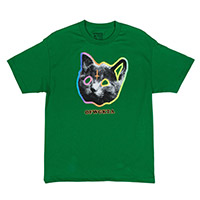 OFWGKTA TRON CAT TEE GREEN