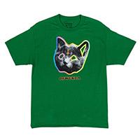 OFWGKTA TRON CAT TEE GREEN