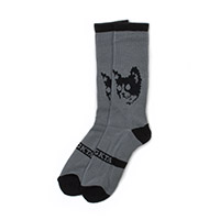 TRON CAT SOCKS CHARCOAL