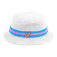OF LOGO WHITE BUCKET HAT