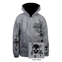 Exclusive - Foil Skull & Cross Ozzy Hoodie