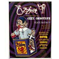 1997 Ozzfest Tour Poster