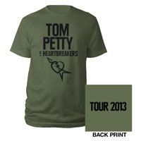 Army Green Flying V Logo Tour 2013 Tee