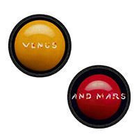 Wings Venus & Mars Sew on Patch Set