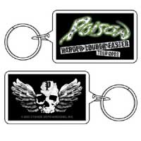 Winged Skull Keychain