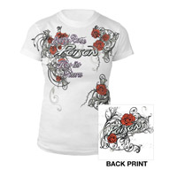 White Every Rose Has Its Thorn Junior Tee