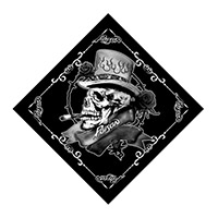 Black Skull Bandana