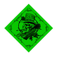 Green Skull Bandana