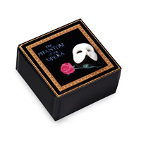 Phantom Mask & Rose Glass Music Box