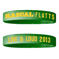 Live & Loud Green Wristband