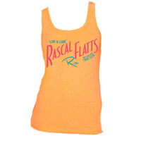 Live & Loud Orange Ladies Tank