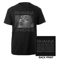 Diamonds World Tour 2013 Smoke Photo T-Shirt