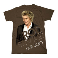Rod Stewart Photo Brown T-shirt