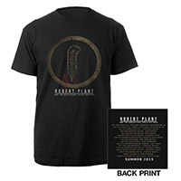 Robert Plant Feather/Summer Itin 2015 T-shirt