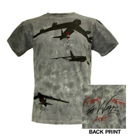 Roger Waters The Wall Live 2013 Bombs Tie Dye Tee