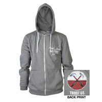Roger Waters The Wall Live 2013 Hammers Heather Grey Zip Hoodie