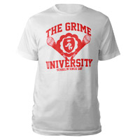 Grime University T-Shirt (White/Red)