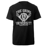 Grime University T-Shirt (White/Black)