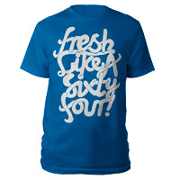 Fresh Like A Sixty Four T-Shirt (Blue/White)