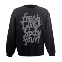 Fresh Like A Sixty Four Sweatshirt (Black/Cool Grey)