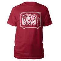 Don't Watch Me, Watch SB.TV T-Shirt (Cardinal Red/White)