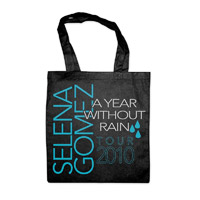 "Selena Gomez ""Year Without Rain"" Black Tote Bag"
