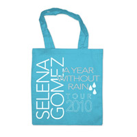 "Selena Gomez ""Year Without Rain"" Turquoise Tote Bag"