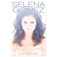 "Selena Gomez ""Year Without Rain 2010-2011"" Tour Program"