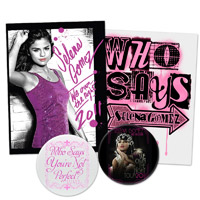 Selena Gomez We Own The Night Tour 2011 Sticker and Button Pack