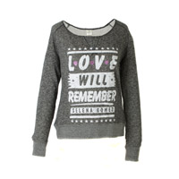 Selena Gomez Love Will Remember French Terry Junior Top