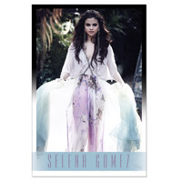 Selena Gomez White Dress Poster